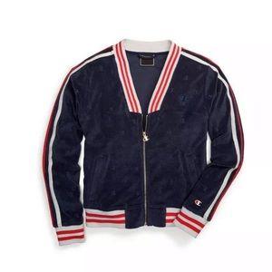 Champion Terry Cloth Warmup Track Jacket